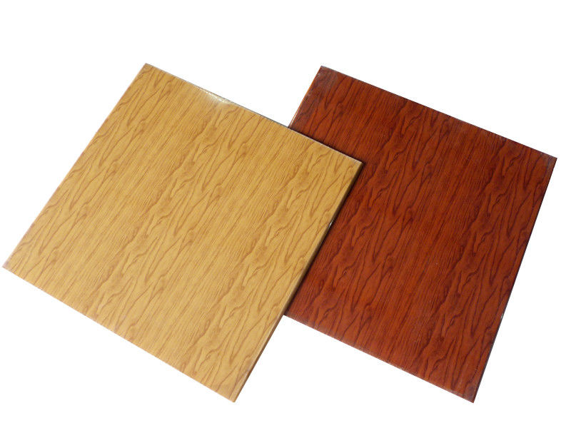 Wood Grain Ceiling Panels Fireproof PVC False Ceiling Tiles Laminated