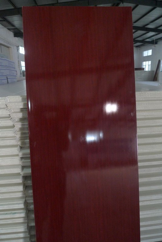 Wooden Color PVC Door Panel Both Side Glossy Printing 66CM Width