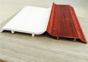 Decorative White PVC Skirting Board 10CM Height Hot Stamping Finish تامین کننده
